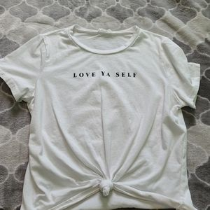 Love Ya Self crop t-shirt